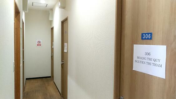 第一寮の廊下